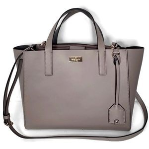 Kate Spade Dark Lavendar Medium Satchel Bag.